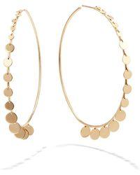 Lana Jewelry 14k Gold Dangle Disc Hoop Earrings - Metallic