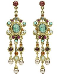 Ben-Amun - Multicolor Triple Pearly Drop Earrings - Lyst