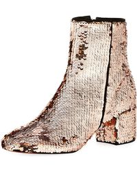 Schutz - Flippy Sequined Ankle Bootie - Lyst
