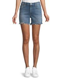 Mother - Sinner Denim Shorts W/ Fray - Lyst