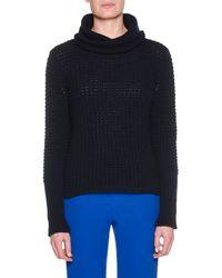 Giorgio Armani - Turtleneck Chunky Wool-cashmere Knit Sweater - Lyst