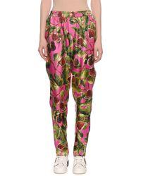 Dolce & Gabbana - Twill Silk Fig-print Pajama Pants - Lyst