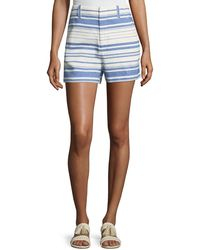 Joie - Eudocia Striped Cotton Shorts - Lyst