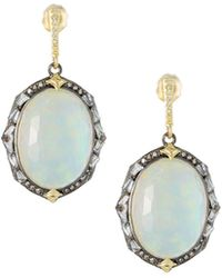 Armenta - Old World Triplet Oval Drop Earrings - Lyst