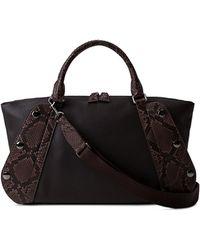 Akris - Aimee Small Bicolor Leather/python Satchel Bag - Lyst