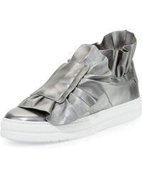 Roger Vivier - Sneaky Viv Ruffled High-top Sneaker - Lyst