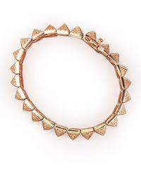 Eddie Borgo - Small Pave Pyramid Bracelet - Lyst