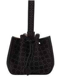 Alaïa - Rose-marie Studded Small Bucket Bag - Lyst
