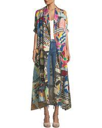 Chufy - Wild-print Linen Robe - Lyst