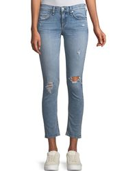 Rag & Bone - Mid-rise Cropped-ankle Skinny Jeans - Lyst