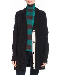 Proenza Schouler - Pswl Button-front Oversized Alpaca-wool Cardigan - Lyst