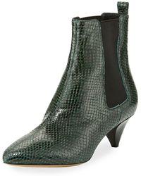 Isabel Marant - Green Snakeskin Dawell 60 Boots - Lyst