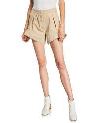 JW Anderson Curved-hem Chino Shorts - Natural