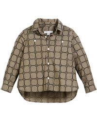 Burberry - Beagle Flower Grid Collared Shirt - Lyst