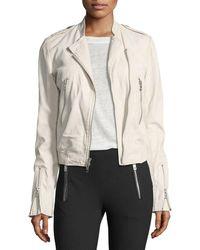 Rag & Bone - Lyon Washed Leather Moto Jacket - Lyst