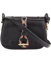Carven Leather Rope Saddle Bag Lyst