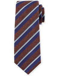 Kiton - Melange-stripe Silk Tie - Lyst