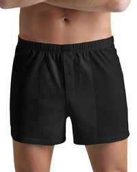 Hanro Knit Boxer Cotton Sporty - Black