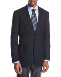 Brioni Ravello Wool Two-button Sport Coat, Navy Blue
