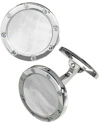 Jan Leslie - Round Mother-of-pearl Cuff Links - Lyst