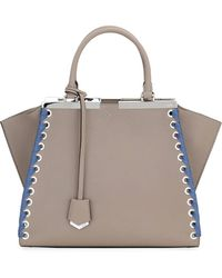 Fendi - 3jours Medium Tote Bag With Ribbon Whipstitching - Lyst