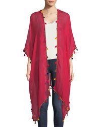Bindya - Pompom Crepe Kimono - Lyst