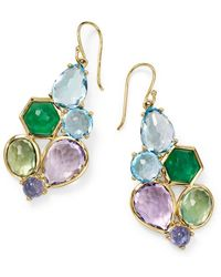 Ippolita Rock Candy 6-stone Cluster Earrings In Hologem - Green