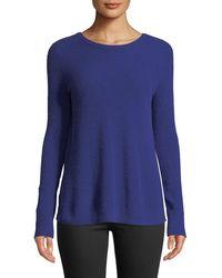Autumn Cashmere - Reversible Crossover-back Crewneck Cashmere Sweater - Lyst