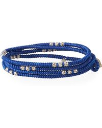 M. Cohen - Men's Knotted Wrap Bracelet With Silver Beads - Lyst