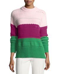 Novis The Wadsworth Knit Colorblock Jumper - Pink