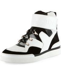 c8efb3abee Giuseppe Zanotti Men's Mid-top Two-tone Platform Sneakers in Black ...