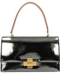 N°21 - Metallic Leather Alice Top Handle Bag - Lyst
