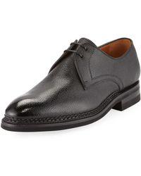 Bontoni - Carnera Pebbled Leather Oxford - Lyst
