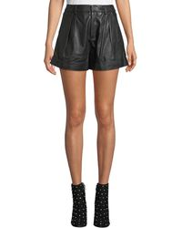 Joie - Editha High-rise Leather Shorts - Lyst