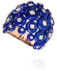 Fernando Jorge Galaxy 18k Rose Gold Lapis & Diamond Ring - Blue