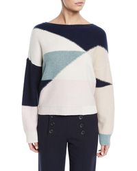 Joie Megu Colorblock Pullover Sweater - Multicolour