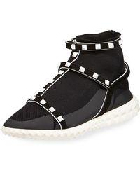 Valentino - Rockstud Body-tech Sock Sneaker - Lyst