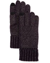 Sofia Cashmere - Lurex® Knit Touch-screen Gloves - Lyst