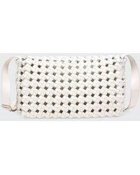 Bottega Veneta Intrecciato Crochet Window Crossbody Bag - White