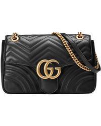 Gucci - GG Marmont Medium Matelassé Shoulder Bag - Lyst