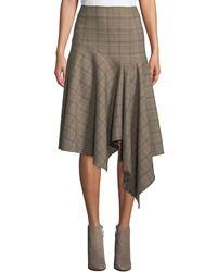 Nanette Lepore - First Bet Asymmetric Plaid Skirt - Lyst