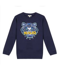 KENZO Signature Tiger Sweatshirt - Blue