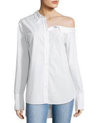 A.L.C. - Wesley Off-one-shoulder Cotton Top - Lyst