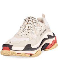 Balenciaga 60mm Triple S Air Leather & Mesh Sneaker - White