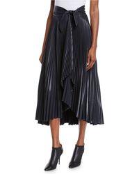 A.L.C. - Eleanor Pleated High-waist Midi Skirt - Lyst