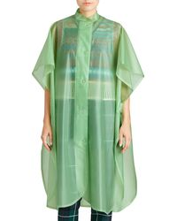 Burberry | Mandarin-collar Button-front Poncho | Lyst
