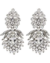 Ben-Amun - Crystal Peacock Clip-on Earrings - Lyst