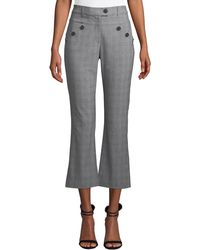 Likely - Leighton Plaid Cropped Trousers With Button Details - Lyst