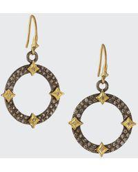 Armenta Old World Diamond Open Drop Earrings W/ Crivelli - Multicolour