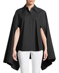 Awake - Button-front Kimono-sleeve Cotton Shirt - Lyst